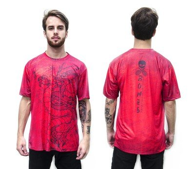 Футболка Bones T-Shirt Dragon Red